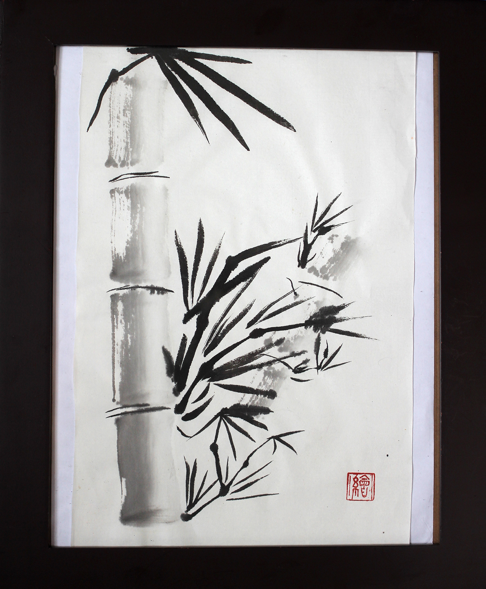 Sumi-e bamboo large file
