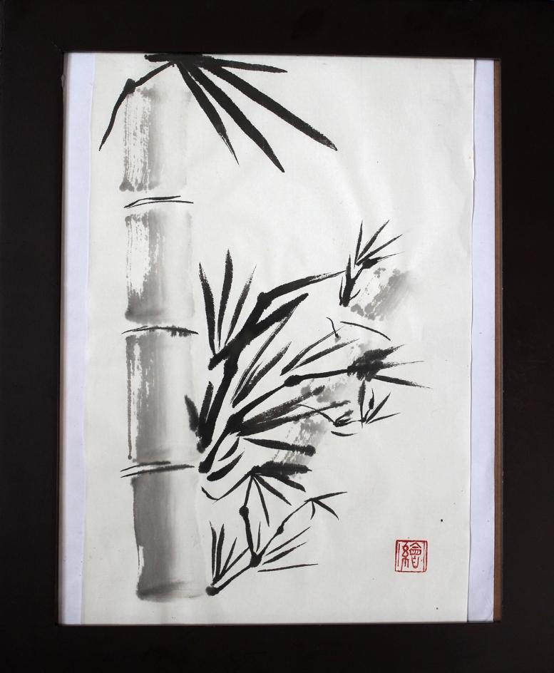 Sumi-e bamboo large file
